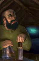 Egill laments holding Bodvar's weapons