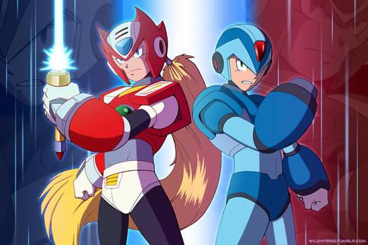 Zero and Mega Man X