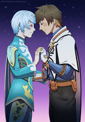Mikleo and Sorey by straya
