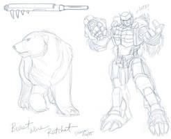 TF - Beast Wars Ratchet Sketch by straya