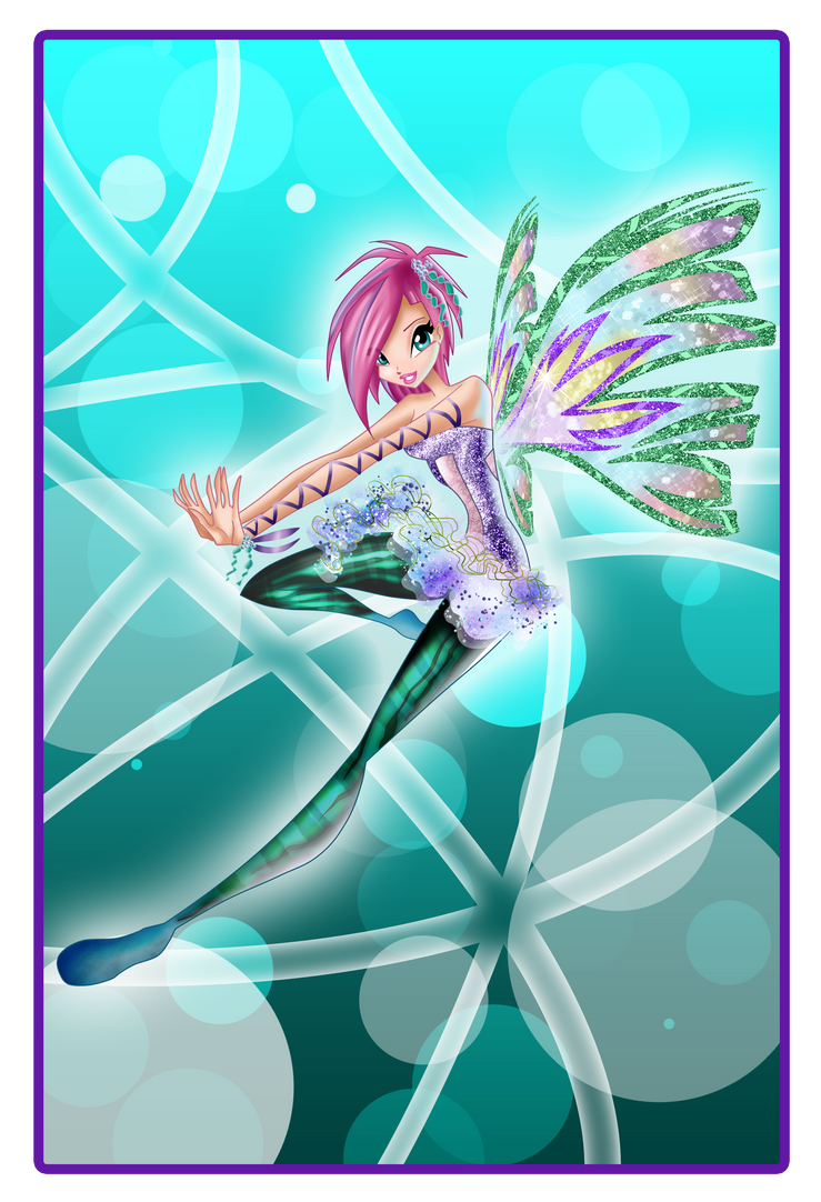 Tecna Sirenix Nickelodeon style by Dessindu43
