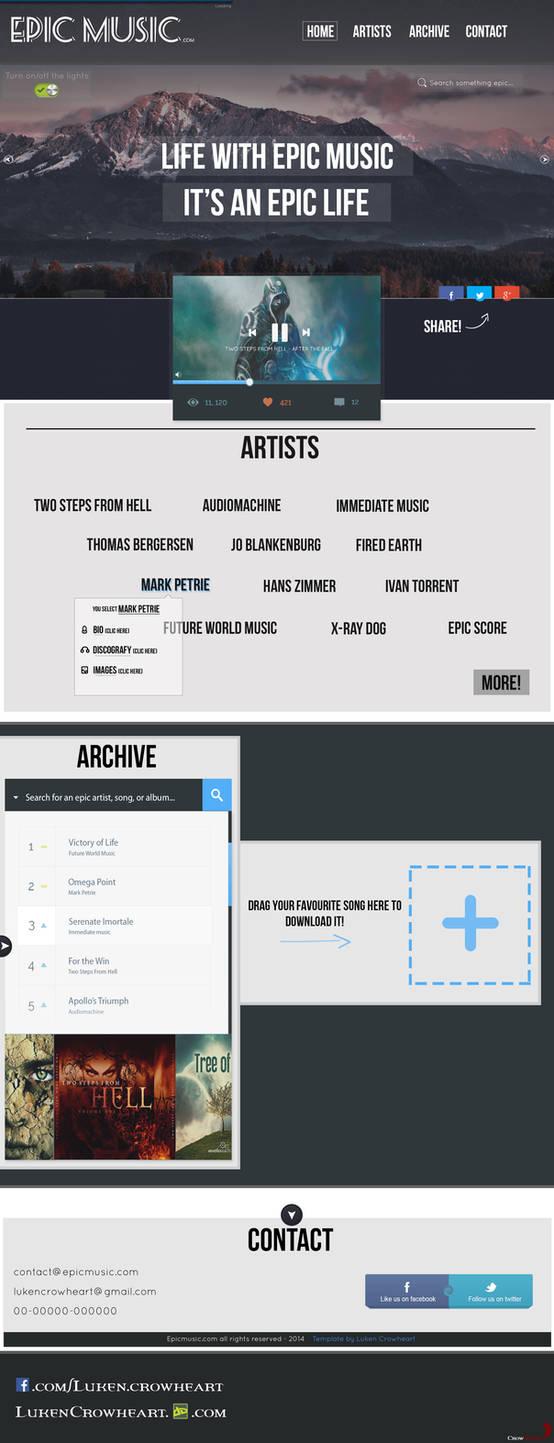Website Template: Epic Music Template