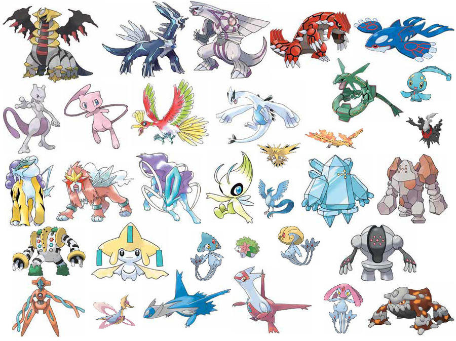Legendary Pokemon Names List And Pictures Legendary Pokemon by D...