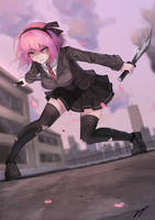 Assassin schoolgirl by ErosPanda