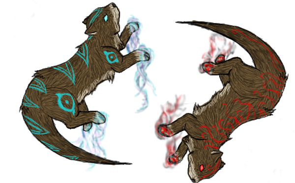 Zan Remake Paintchat_Otters_by_CirrusTheCloud
