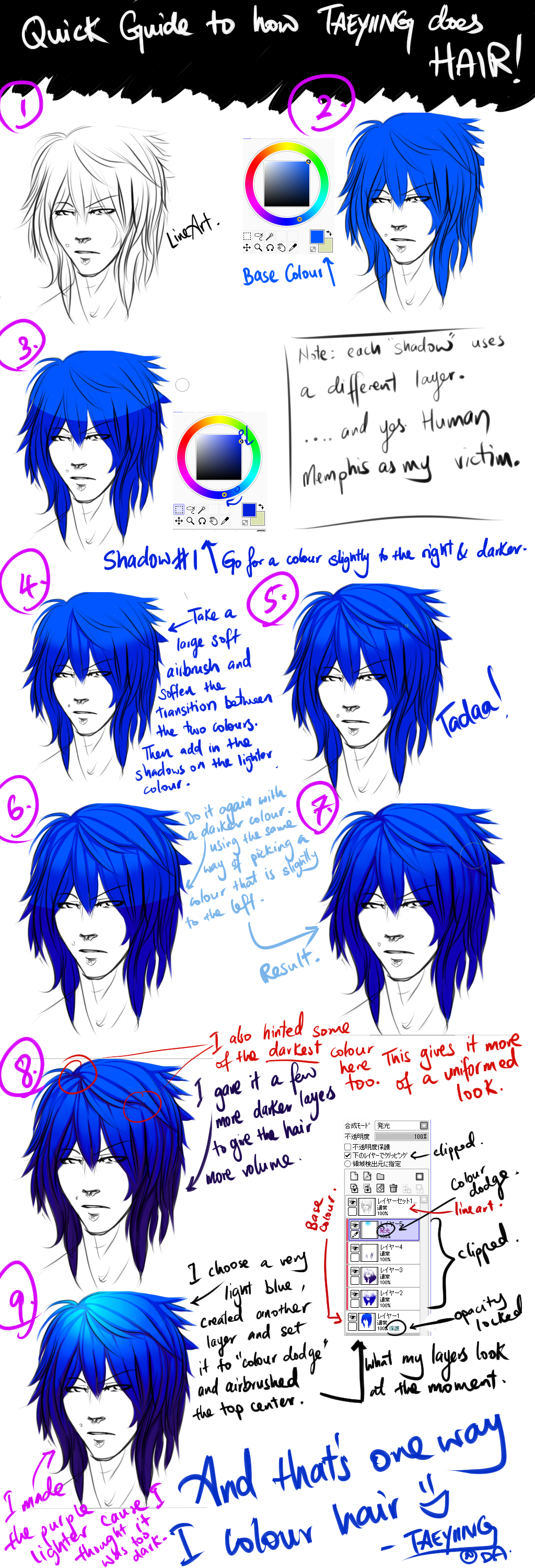 Quick Guide: Coloring Hair by TaeYiiNG