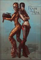 Ada and Rain by godcreated00