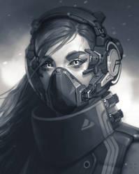 Cyberpunk girl by godcreated00