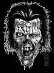 Necro zombie t-shirt design
