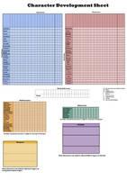 Character development sheet by LyricaBelachium