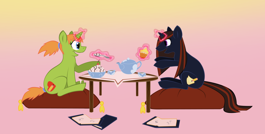 Pony tea time by LyricaBelachium