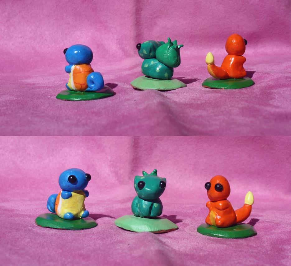 Pokemon trio (for sale) by LyricaBelachium