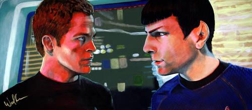 New Star Trek: Kirk+Spock by WolfenM