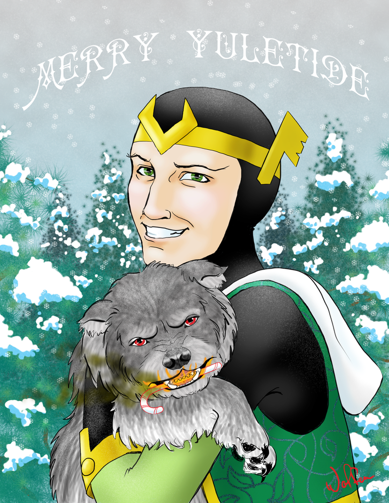 Thor: Merry Yuletide Loki by WolfenM