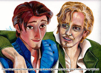 Disney and Marvel: Eugene Fitzherbert and Fandral by WolfenM