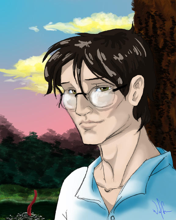 James Potter, By the Lake by WolfenM