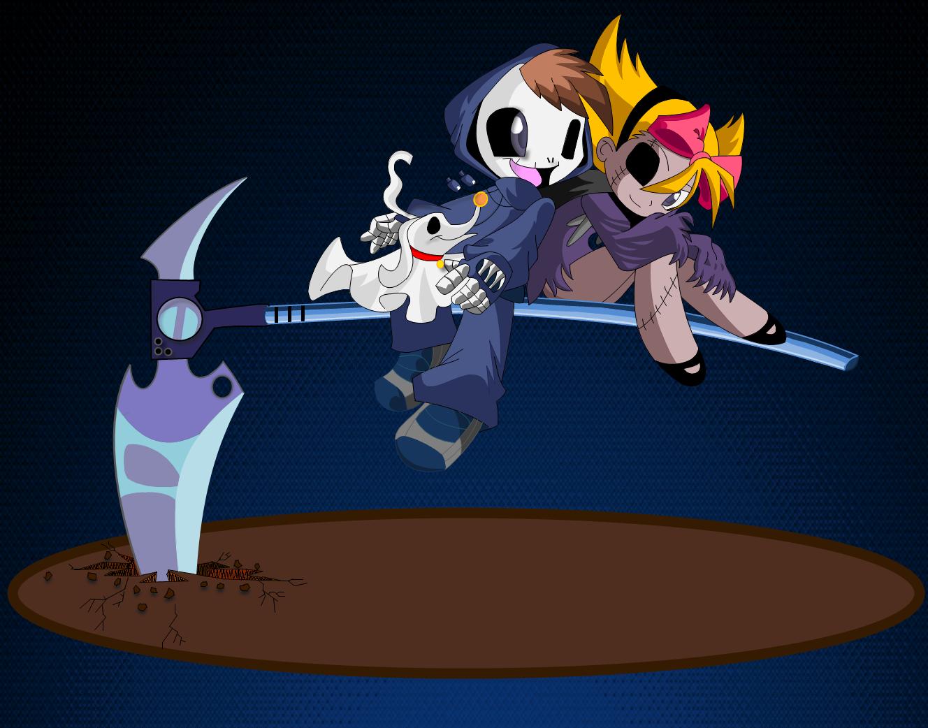 Grim Jr. and MiniMandy by DragonAlchemist63