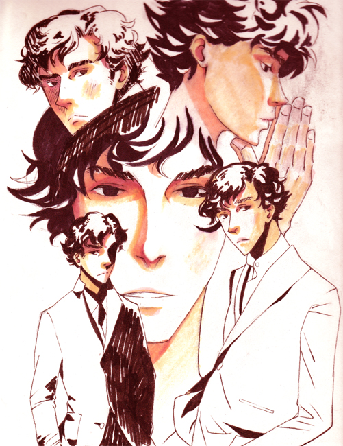 Sherlock Sketches by BananaChan