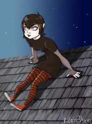 Hotel Transylvania - Mavis on the roof by LunaMiel