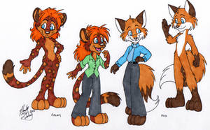 Model Sheet - Seley and Fox by MandySeley