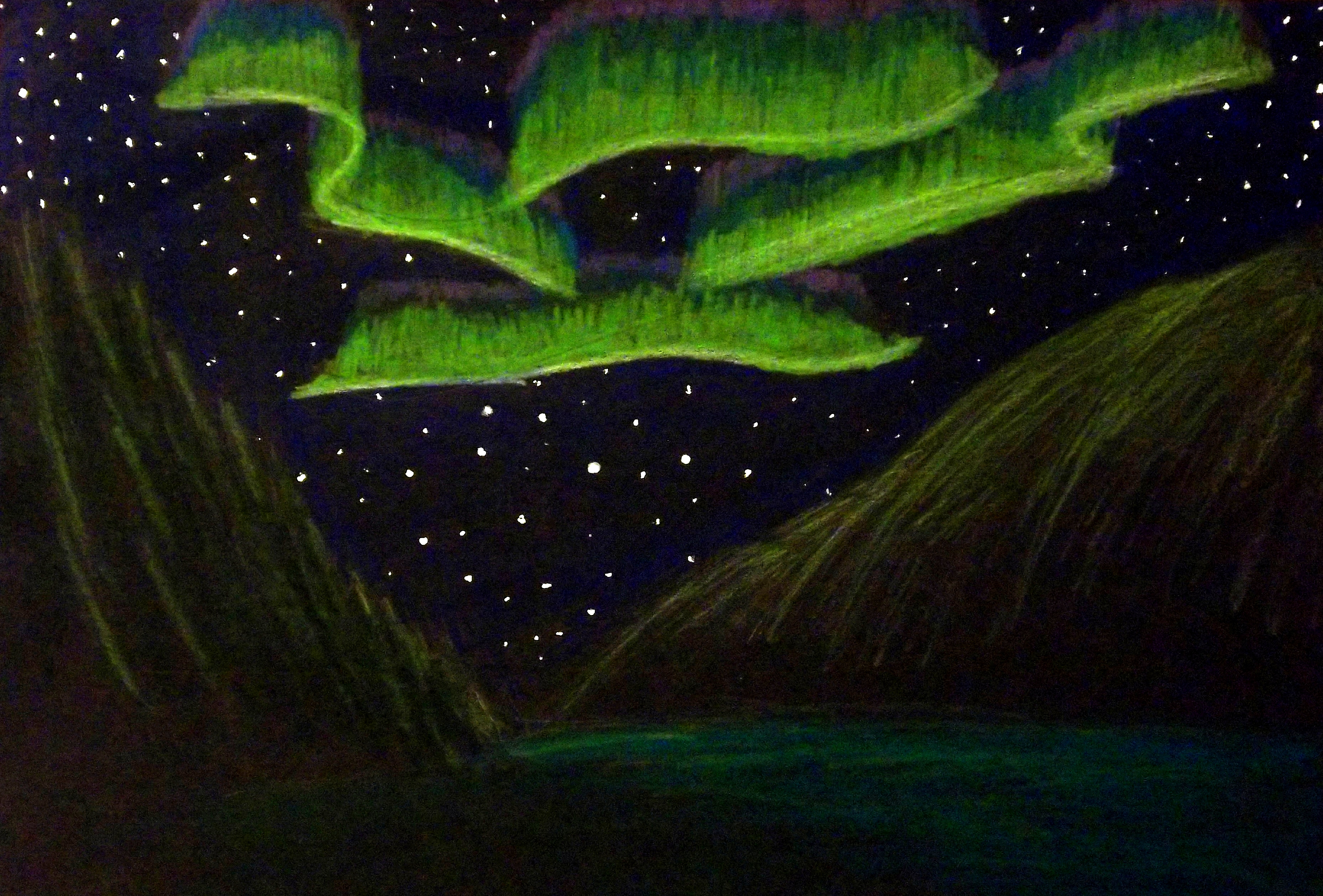 Background Art Northern Lights By Supajames1