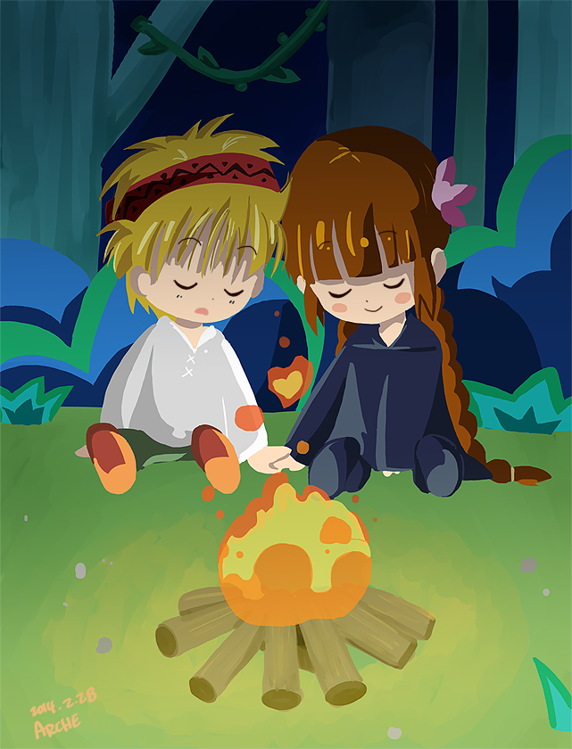 By the campfire by Arche-JoIyO
