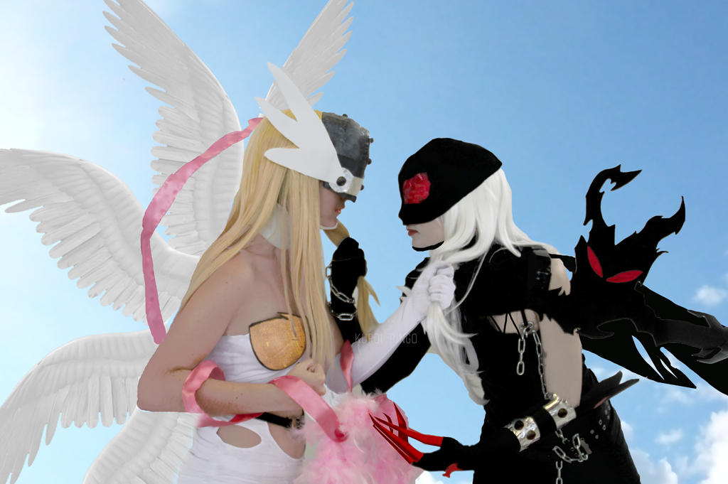 Angewomon vs Ladydevimon by PhotoSoof