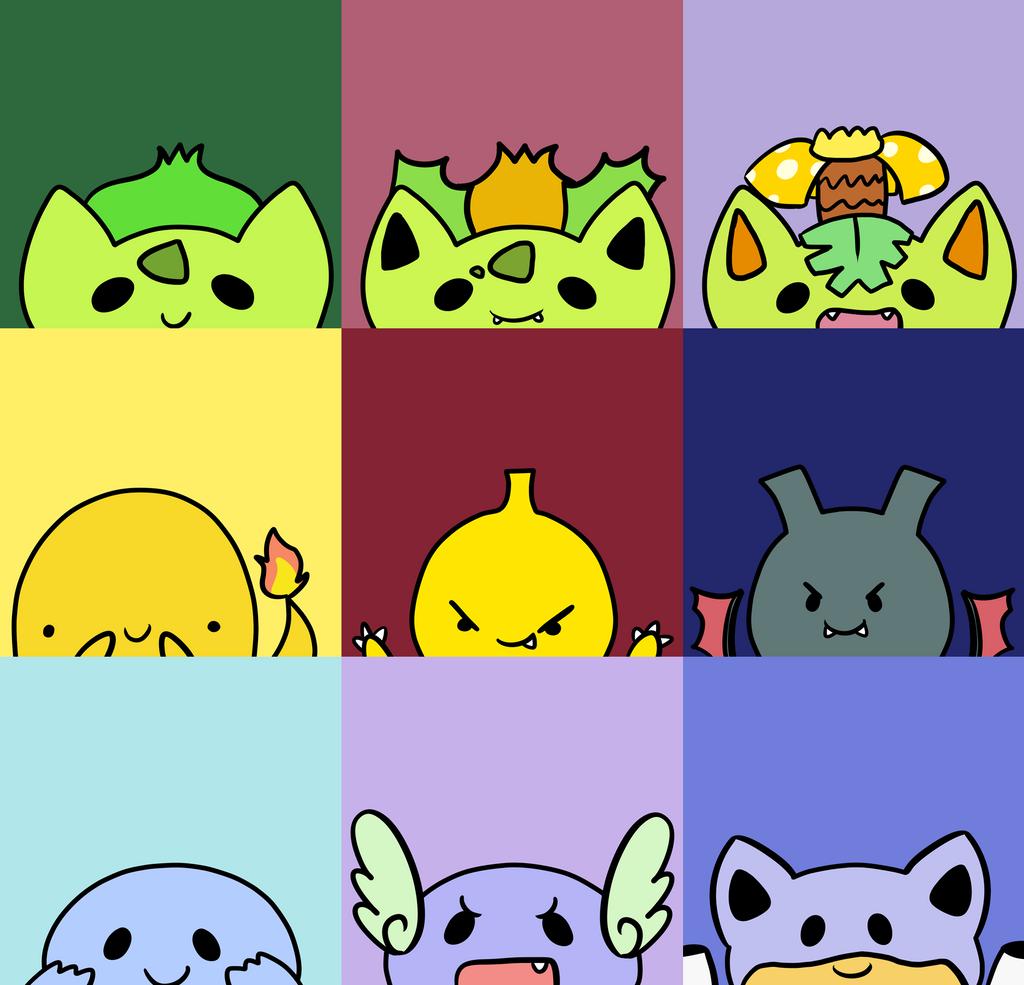 Pokemon Red Starters Pokemon kanto starters avatars