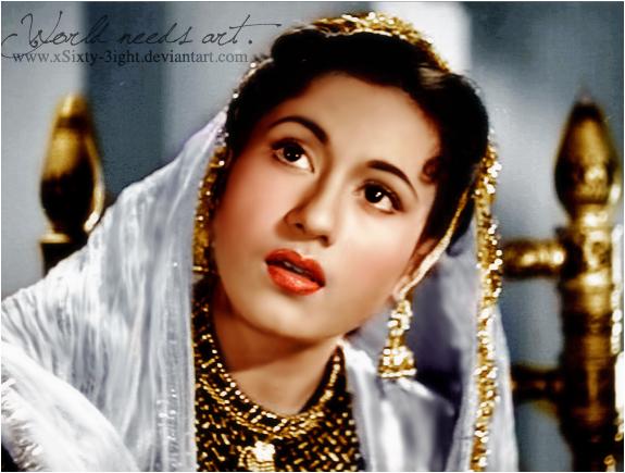 Madhubala as Anarkali by xSixty-3ight