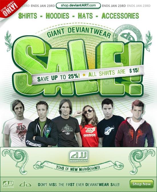 Giant deviantWEAR Sale by deviantARTGear