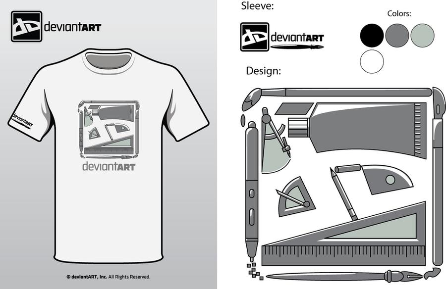 "Semi-Finalist: ""dA 2010 Shirt"" by deviantARTGear"