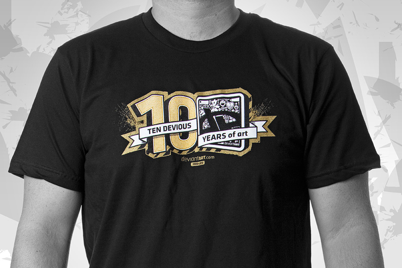 10th BirthdAy Tee by deviantARTGear