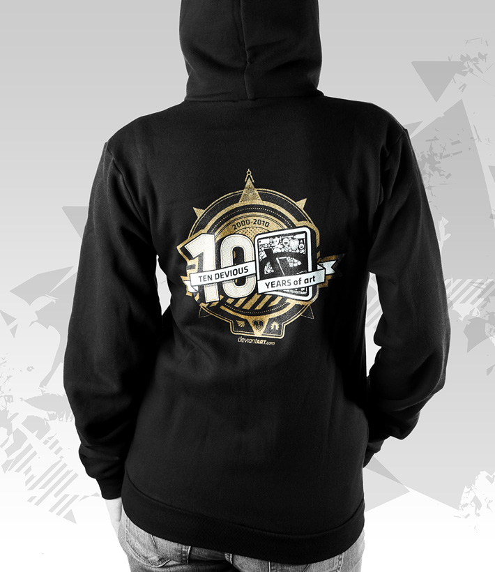 10th BirthdAy Zip Up Hoodie by deviantARTGear