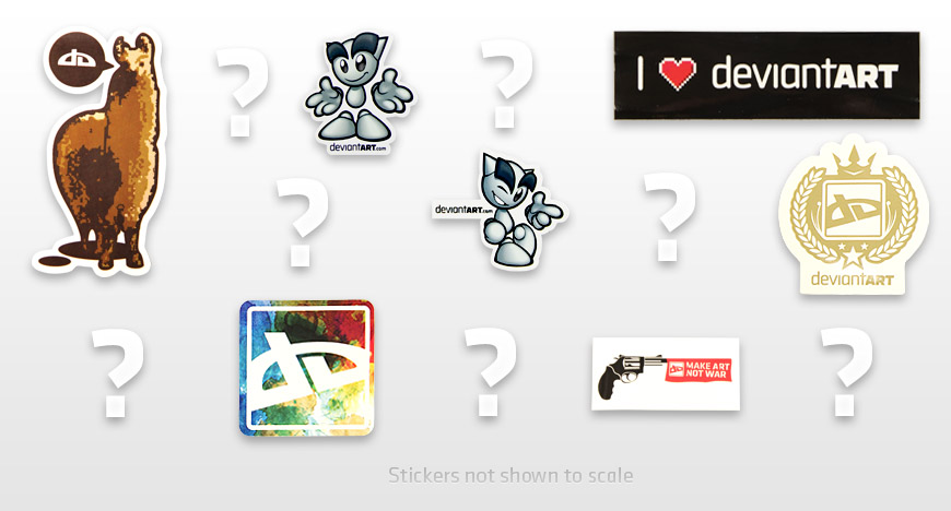 Mystery Sticker Pack by deviantARTGear