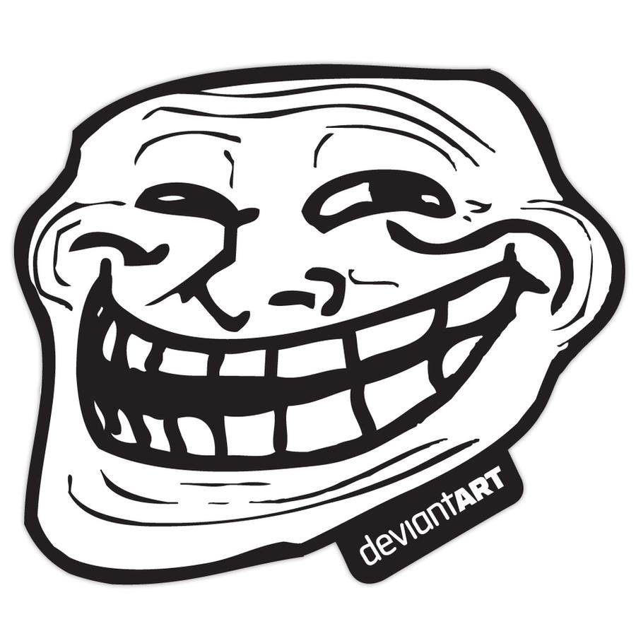 Trollface Sticker by deviantWEAR