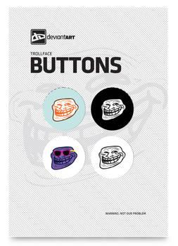 Trollface Button Pack