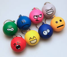 Emoticon Keychain Full Set by deviantWEAR
