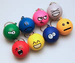 Emoticon Keychain Full Set