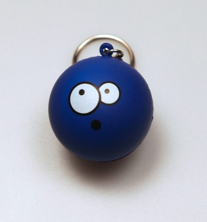 :O Stress Ball Keychain by deviantARTGear