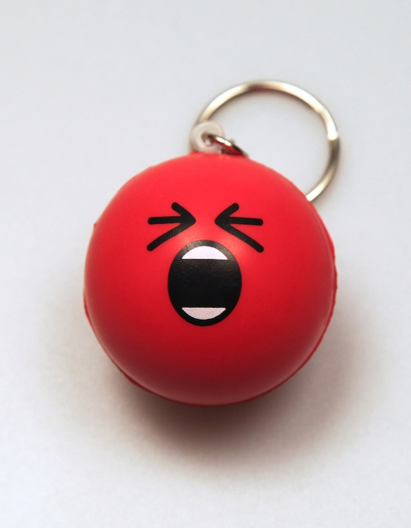 :rage: Stress Ball Keychain by deviantARTGear
