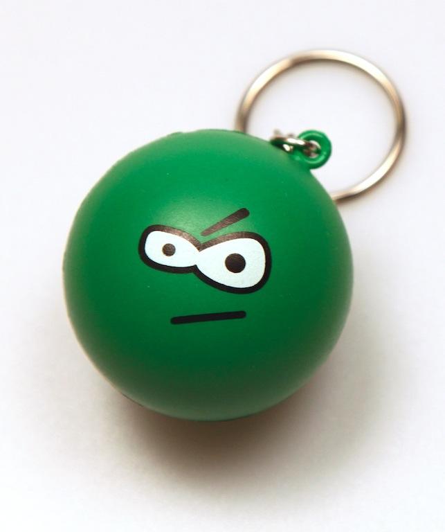 :evileye: Stress Ball Keychain by deviantARTGear