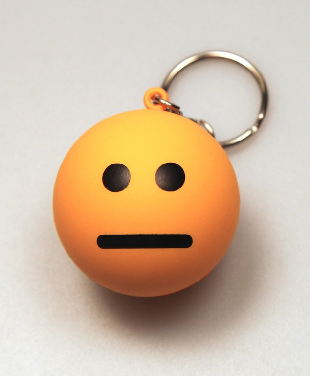 Blank Face Stress Ball Keychain by DeviantArtGear