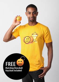 Blank Face Emoticon T-Shirt (Men's)