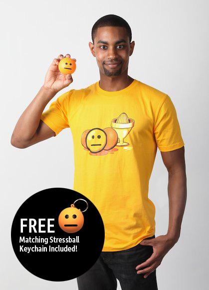 Blank Face Emoticon T-Shirt (Men's) by deviantARTGear