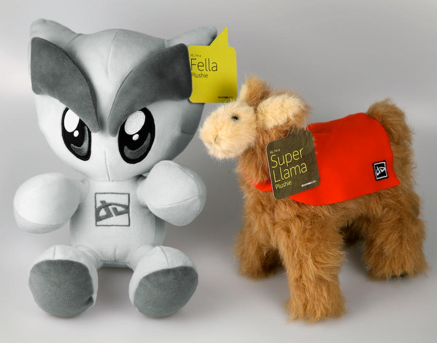 Fella and Llama Plushie Set by deviantWEAR