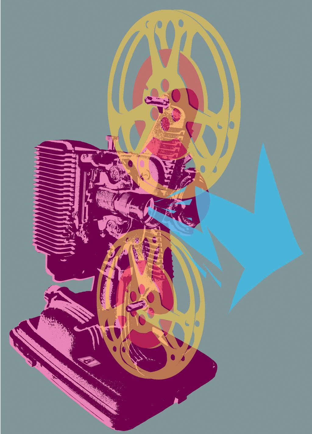 Movie Time T-Shirt - Grey by deviantARTGear