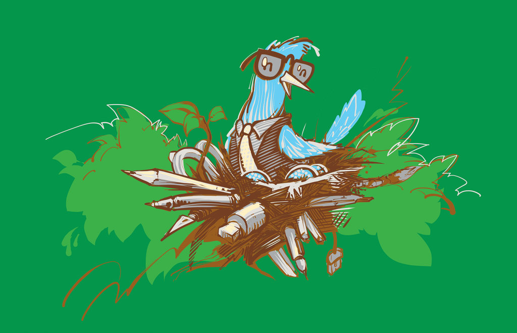 Nerdy Bird T-Shirt by deviantARTGear