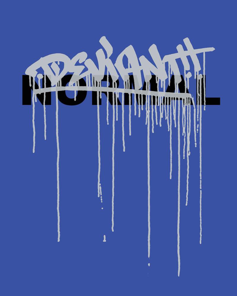 Never Normal T-Shirt - Blue by deviantARTGear