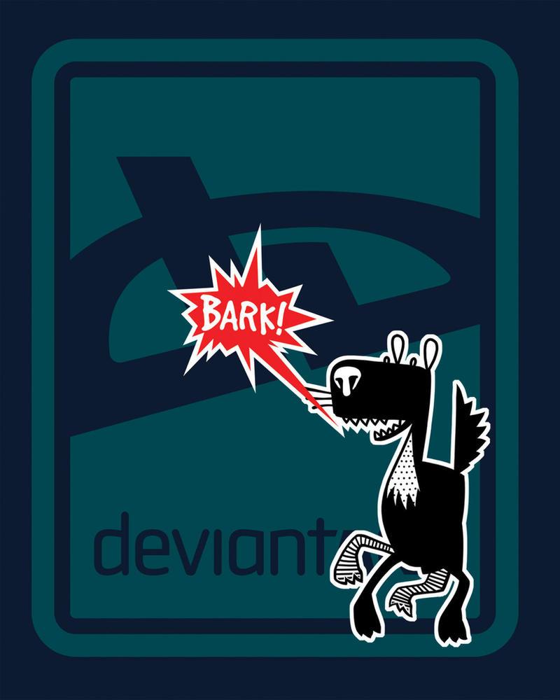 deviant BARK T-Shirt -- Navy by deviantARTGear