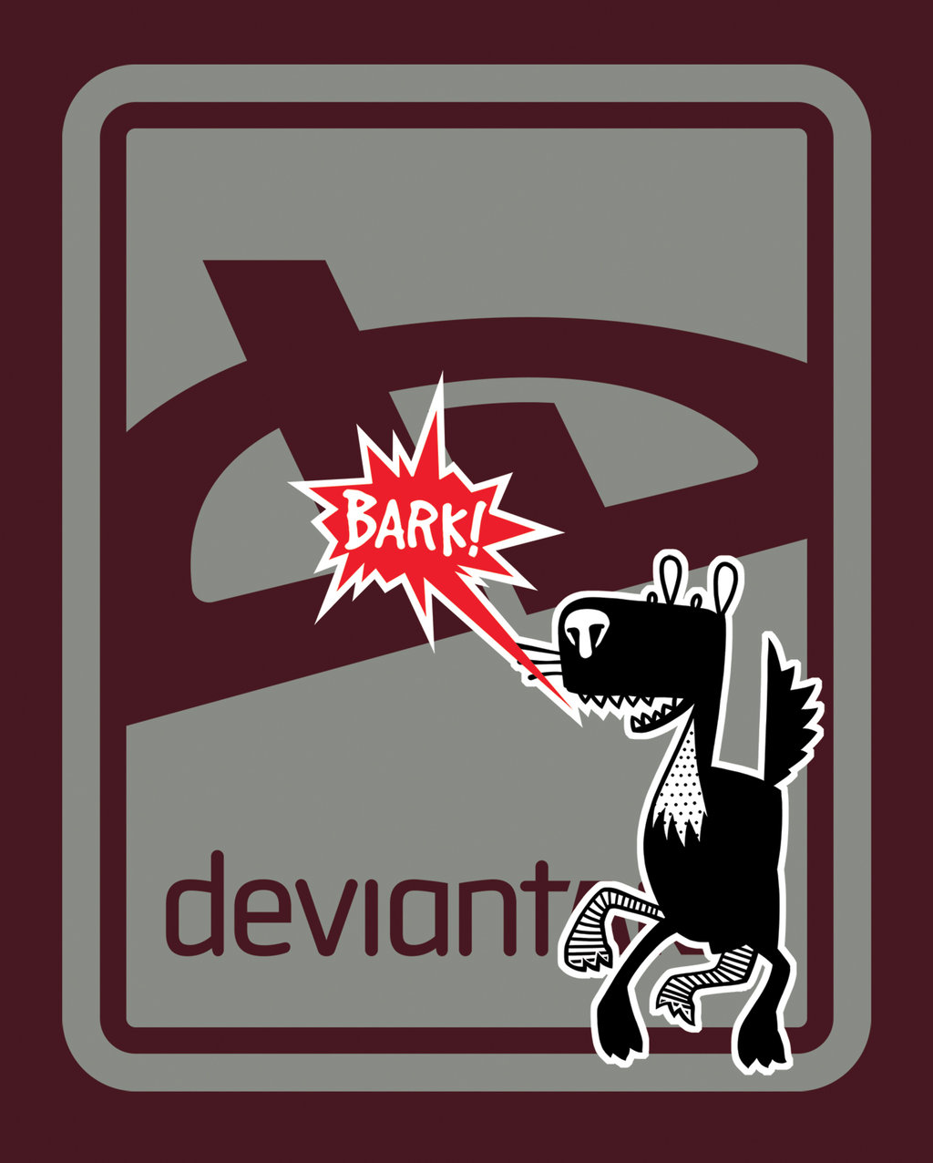deviant BARK T-Shirt - Brick by deviantARTGear